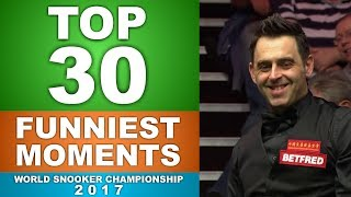 TOP 30 FUNNIEST MOMENTS | World Snooker Championship 2017
