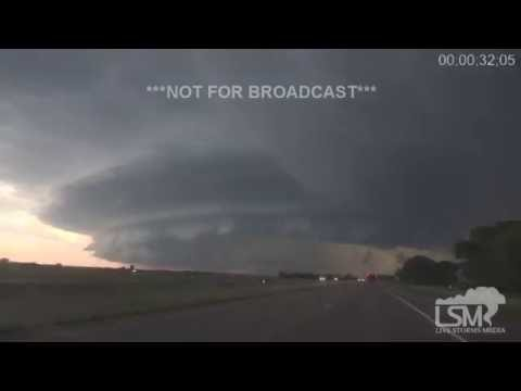 6-26-16 North Platte, NE Supercell Incredible Structure Time Lapse