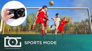 sony alpha a6000 mirrorless camera   sports mode tutorial