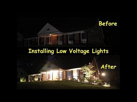 Lowe S Portfolio Landscape Lighting Kit Installation Before After Youtube