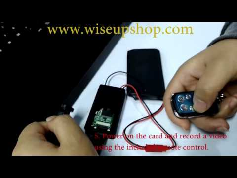 WISEUP How to Set Time and Date Stamp for Spy Camera T182