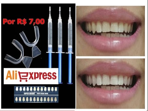 Clareador De Dente Caseiro Aliexpress R 7 00 Bom E Barato Youtube