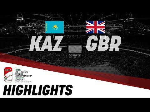 Kazakhstan - Great Britain | Highlights | 2018 IIHF Ice Hockey World Championship Division I Group A