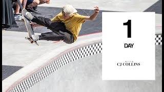 CJ Collins Rips Vans' Newest Skatepark | One Day