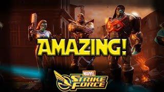 Minn-Erva + Thanos + Oracle + Ronan = Amazing  MARVEL Strike Force - MSF