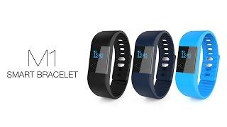 m1 smart bracelet bluetooth 4 0 pedometer calorie mileage sleep monitor call sms reminder remote