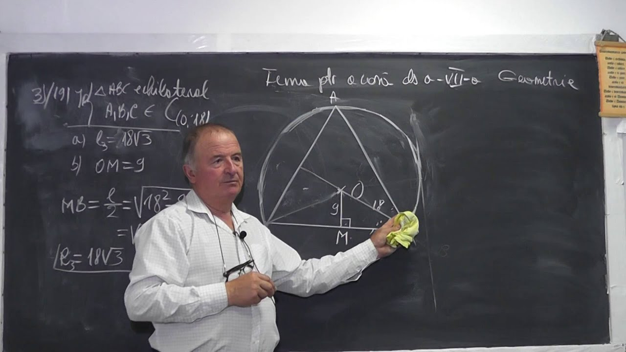1038 Cercul inscris circumscris triunghi Lungimea medianei Th. Pitagora Aria Perimetrul Clasa 7