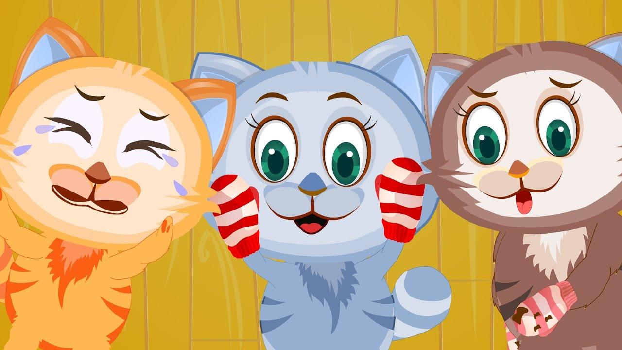 Three Little Kittens 3 Little Kittens Lost Their Mittens Nursery Rhyme With Lyrics Youtube