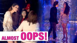 Tiger Shroff saves girlfriend Disha Patani from an embarrassing moment at LFW '17