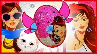 Волшебные шоколадные яйца. Куклы Барби, Котики, Щенки. Конкурс. Киндер сюрприз. Kinder Surprise.