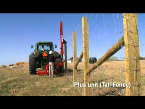 Martillo hidraulico para postes de cerca youtube - Postes de madera ...