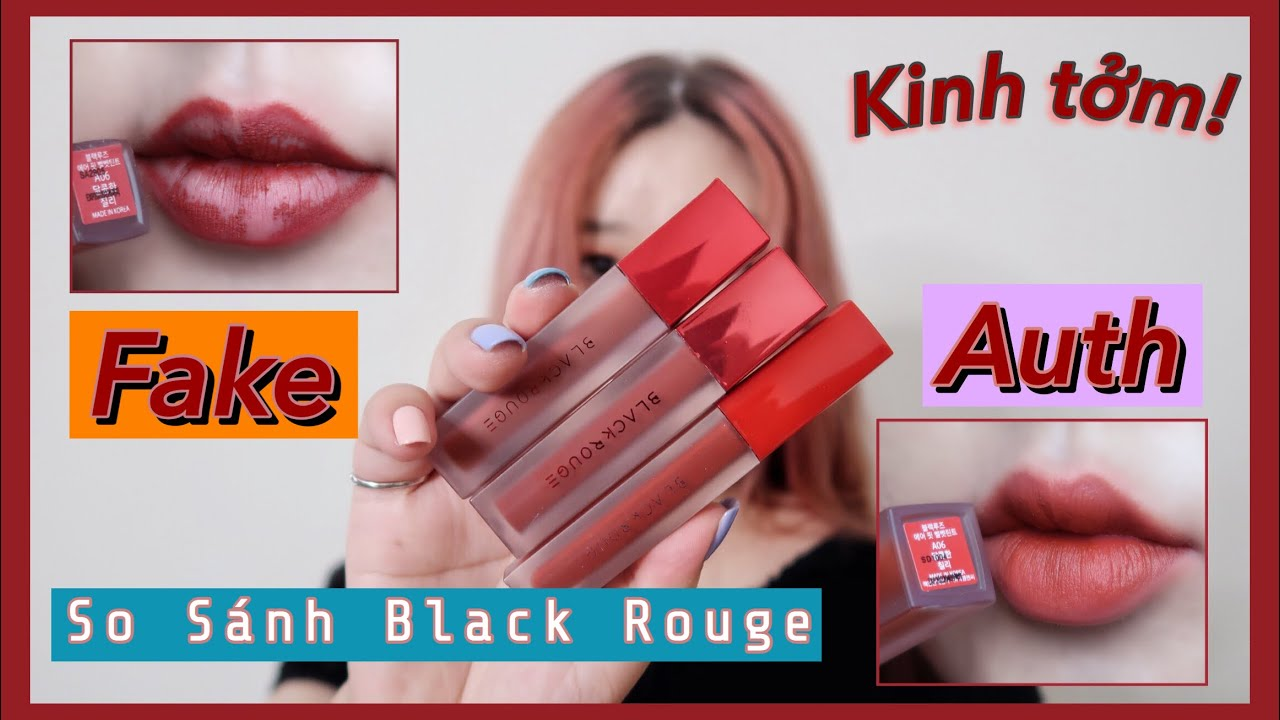 SWATCH SON BLACK ROUGE FAKE🥵 | SO SÁNH SON BLACK ROUGE AUTH