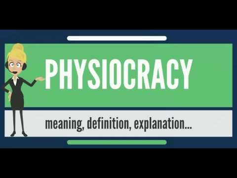 What is PHYSIOCRACY? What does PHYSIOCRACY mean? PHYSIOCRACY meaning, definition & explanation
