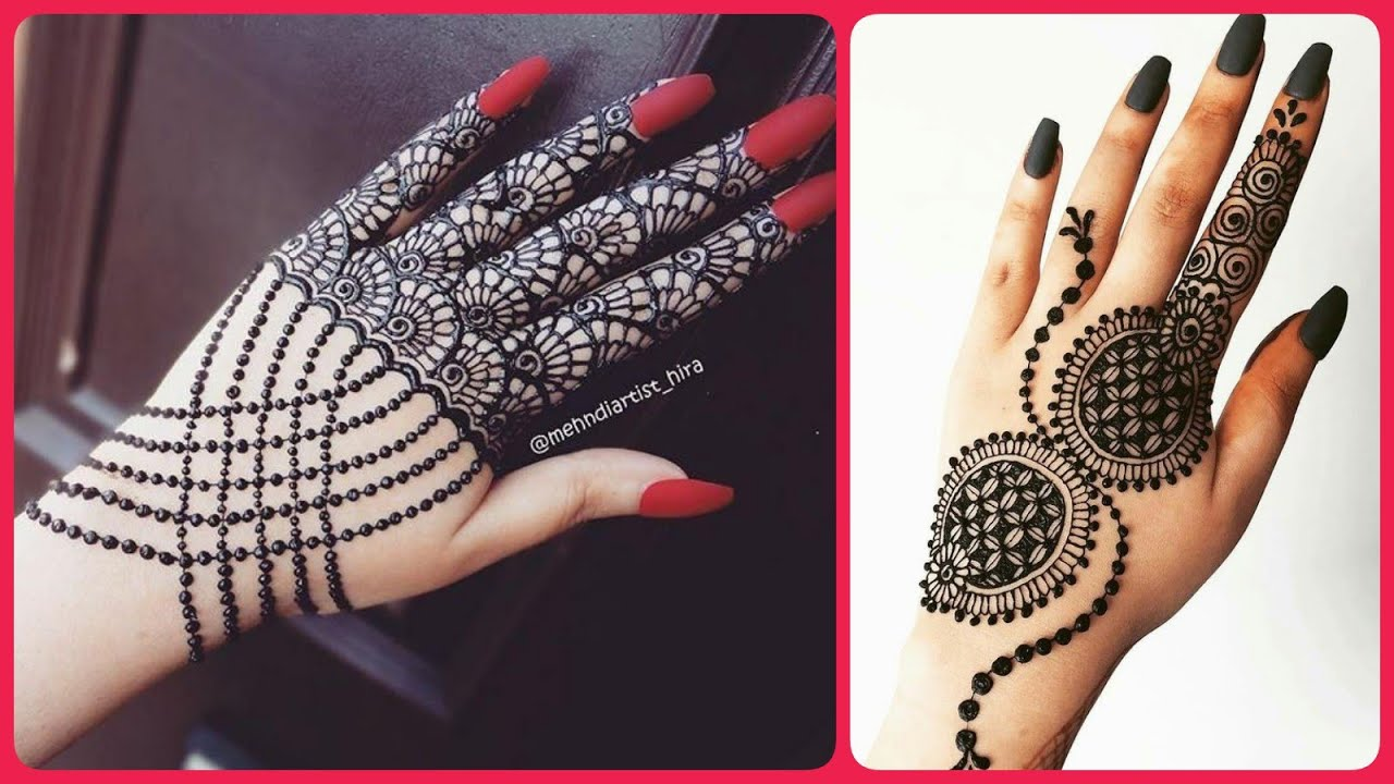 stylish back hand mehndi design 2021