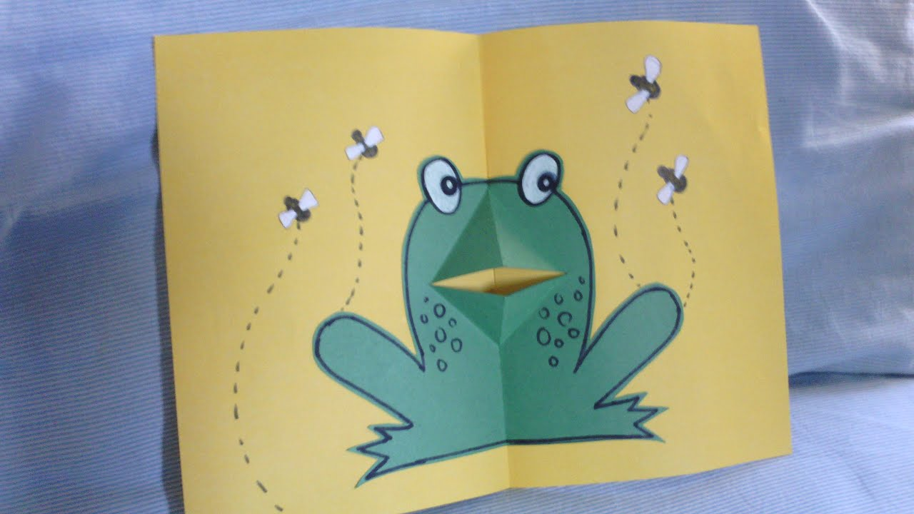 Good How To Make Pop Up Cards Easy Part - 5: Very Easy New Year Card Idea   Handmade New Year Card   How To Make Frog Pop  Up Card - YouTube