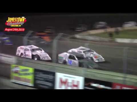 Jamestown Speedway IMCA Modified A-Main (8/24/19)