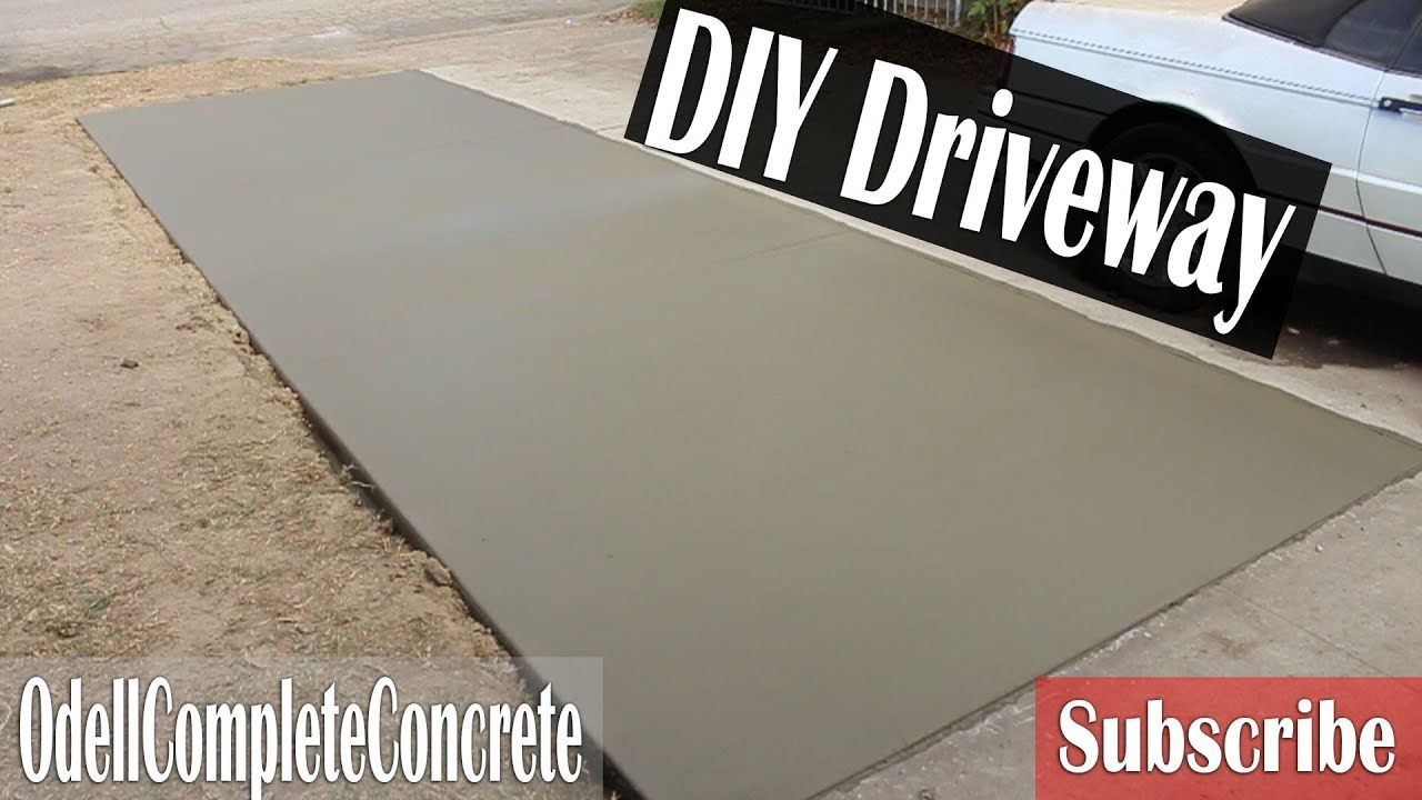 How to pour a Concrete Driveway Addition For Beginners DIY