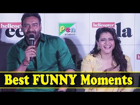 Kajol And Ajay Devgan's Best Funny Moments | Helicopter Eela Trailer Launch