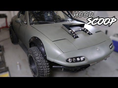 Supercharging the Rally Miata Pt.4 - DIY Hood Scoop