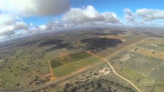 GoPro DJI Phantom Quadcopter Drone - flying in clouds and crashing