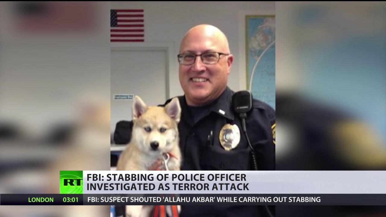 Stabbing of police officer at Michigan airport investigated as terrorist attack – FBI
