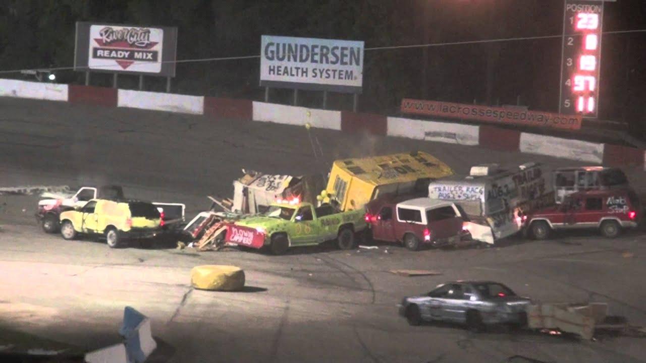 Trailer Race of Destruction @ La Crosse Speedway 08.02.14 - YouTube