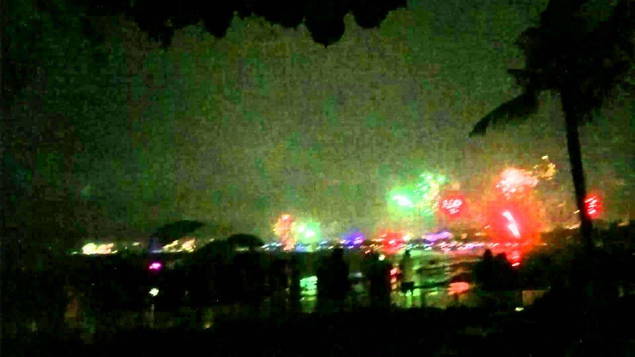 Bali Garden Beach Resort Fireworks at Kuta Beach - YouTube