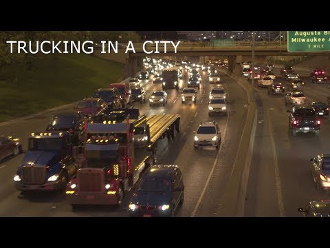 How to properly drive through a city (in a semi)