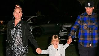 Pink Takes Her Family And Other Celebs Show For The Beyonce Concert At The Rose Bowl