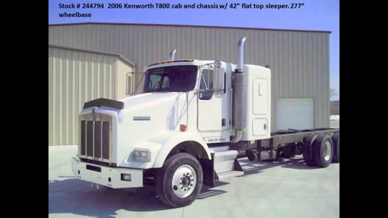 medium resolution of 2006 kenworth t800 cab chassis for sale from used truck pro 866 481 8543