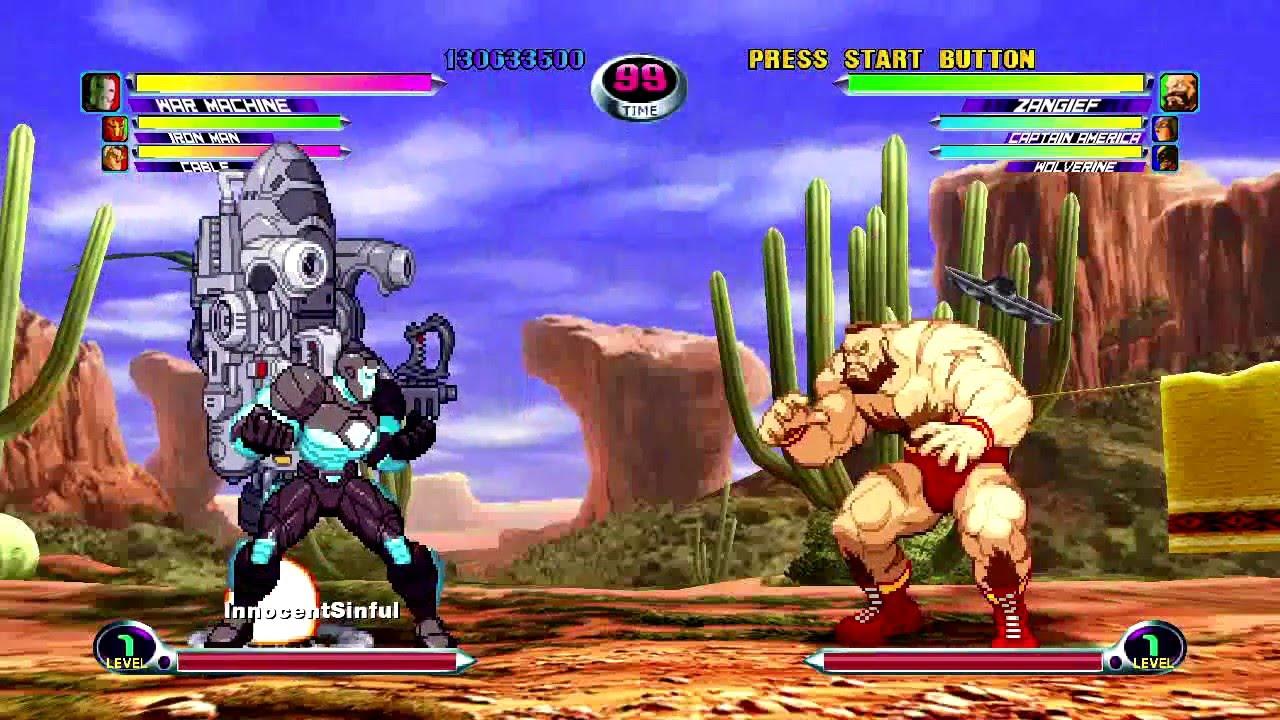 marvel vs capcom 2 machine