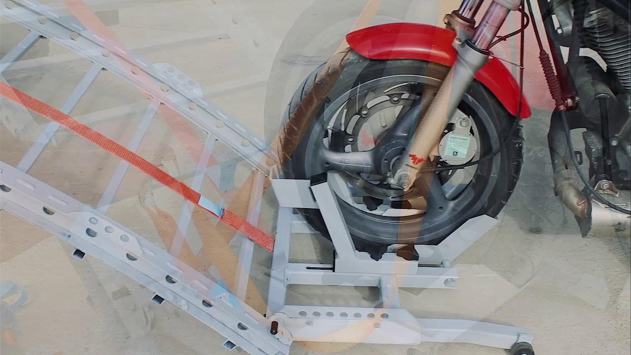 Rampe de chargement pour 2 roues youtube - Rampe de chargement moto ...