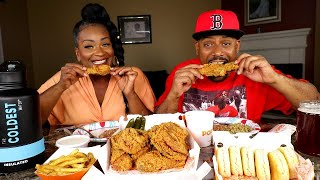 DELICIOUS SPICY POPEYES FRIED CHICKEN MUKBANG! IS ANYTHING GOOD HAPPENING?