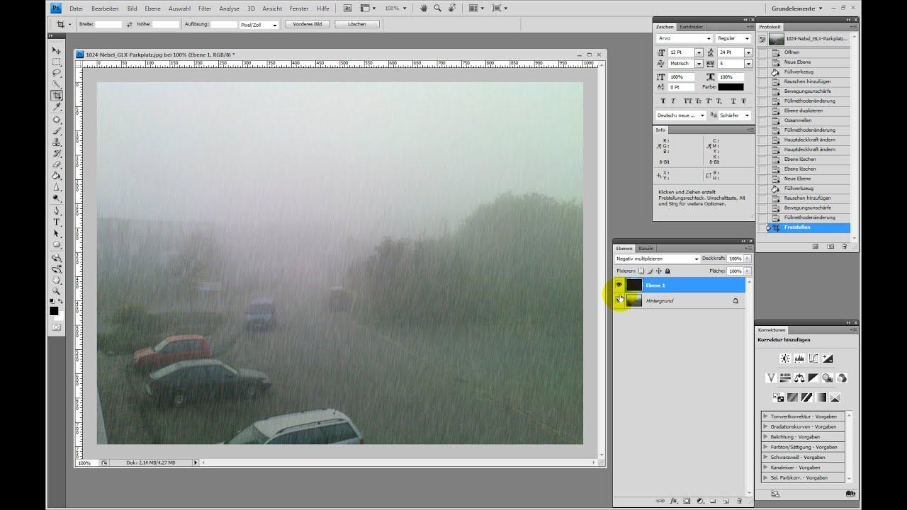 Realistischen Regen Erstellen Photoshop Tutorial Youtube