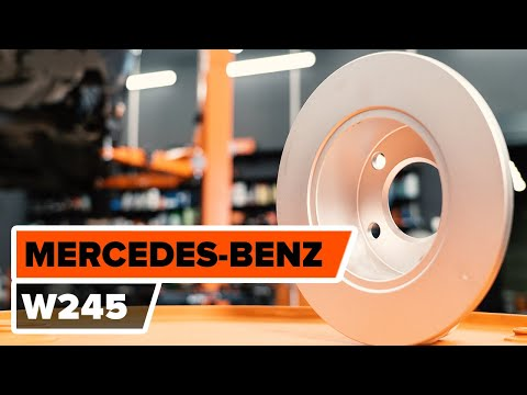 How to replace rear brake discs and rear brake pads on MERCEDES-BENZ B W245  TUTORIAL | AUTODOC