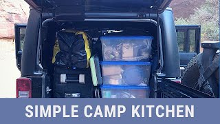 Our Super Simple Jęep Camp Kitchen is Dialed!