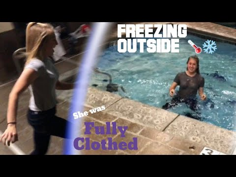 She Jumped In FULLY DRESSED  Freezing Weather