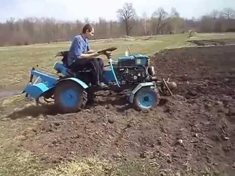 Мини трактор из мотоблока с фрезой