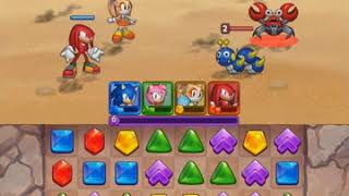 SEGA Heroes (Preview Edition): Sonic/Amy/Cream/Knuckles Gameplay