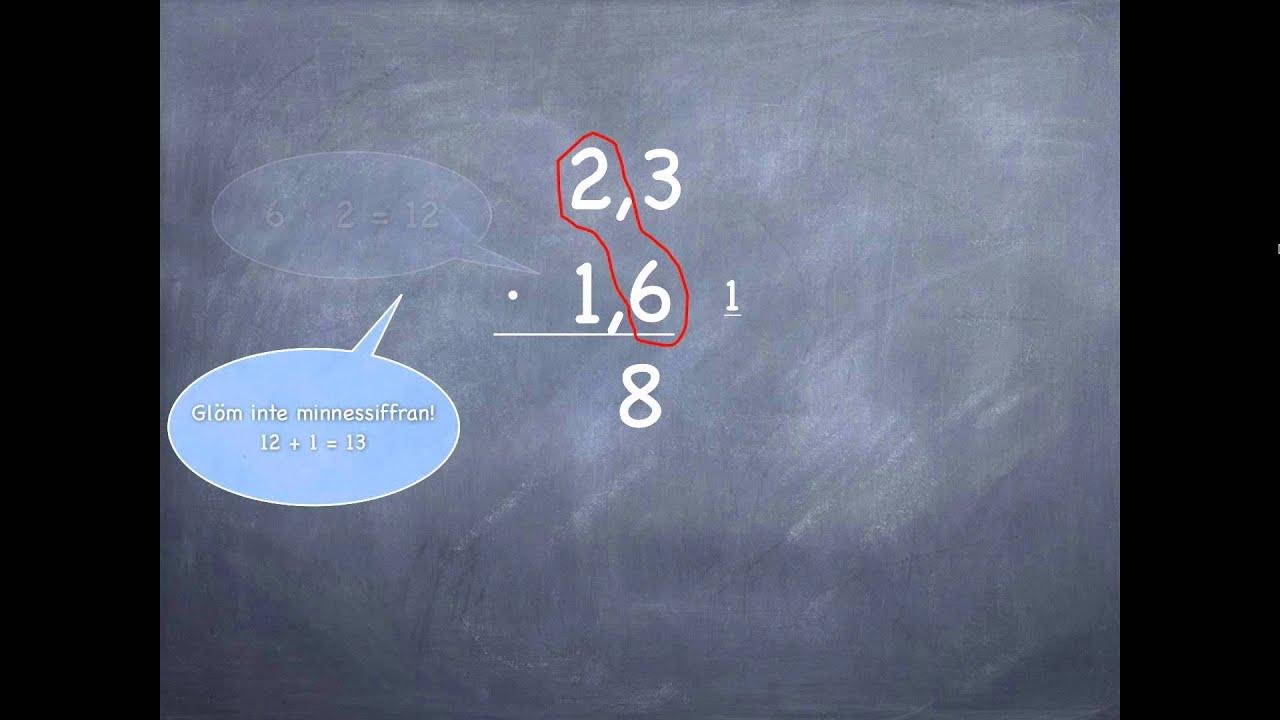Uppställning av multiplikation - YouTube cb35eff8cbfc2