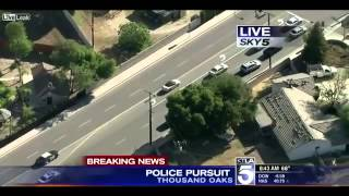 Police Chase   THOUSAND OAKS Calif  NEW APRIL 19th 2013 Pit maneuver
