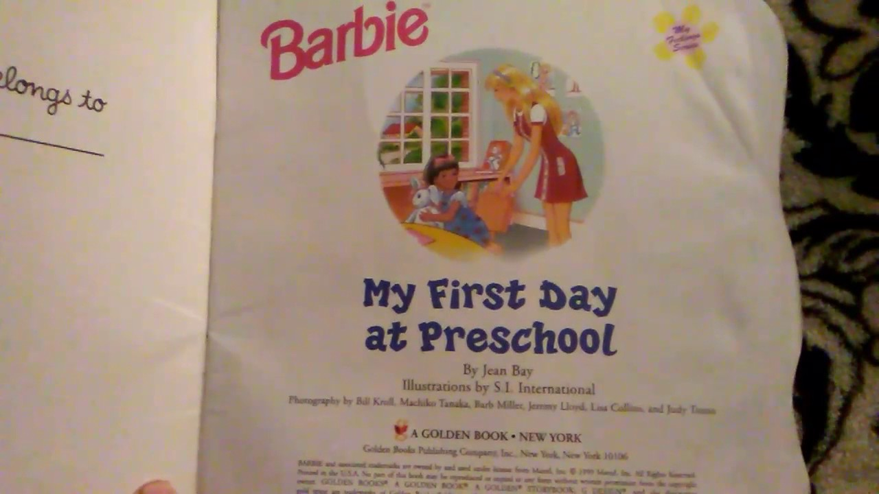 Barbie My First Day At Preschool You