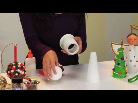 Christmas crafts with craft foam for Crafts with styrofoam balls for kids