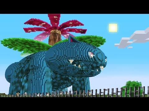 Download Youtube: Minecraft vs Pokemon go   GIGA VENUSAUR!!   (PvZ/Pokego Land)
