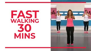FAST Walking in 30 minutes | Fitness Videos