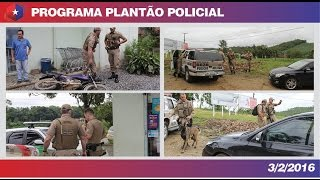 Plantão OCP 03/02/16 - (Assalto e perseguição em Guaramirim)