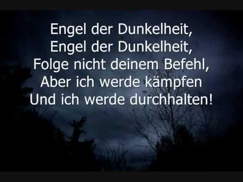 An Angel Lyrics Deutsch
