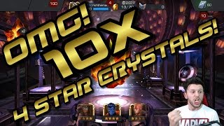 OMG! 10X 4 STAR CRYSTALS! [MARVEL CONTEST OF CHAMPIONS]
