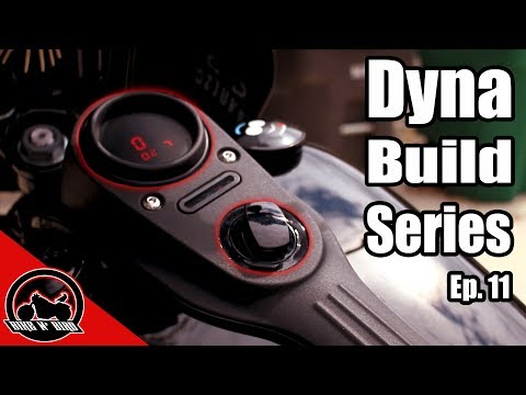 Harley Dyna Build Series Ep. 11 - Digital Gauge, Black Ignition, And NEW GRAPHICS!
