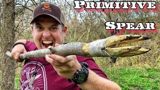 7 Day $100 Walṁart Survival Challenge - Day 5 - Primitive Survival Fishing Spear